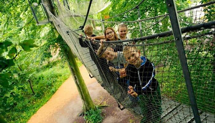 Hoseilgarten im Garten von Schloss Egeskov