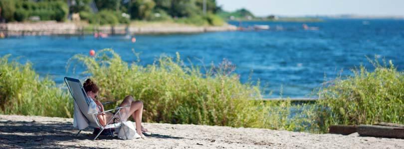 Ferienhaus mit Strand auf der Insel Tåsinge